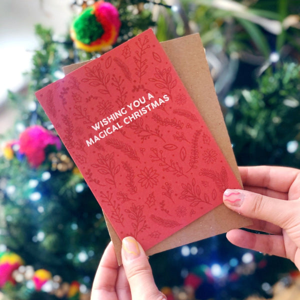 Christmas Card 'Wishing You A Magical Christmas'  - XOXO Designs by Ruth Braw Wee Emporium