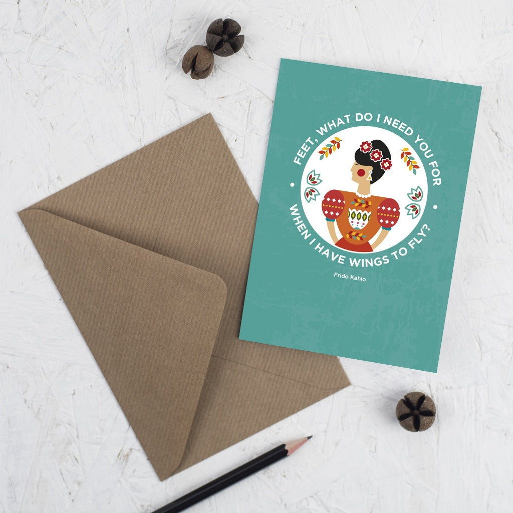 Frida Card - Kate & The Ink - Braw Wee Emporium