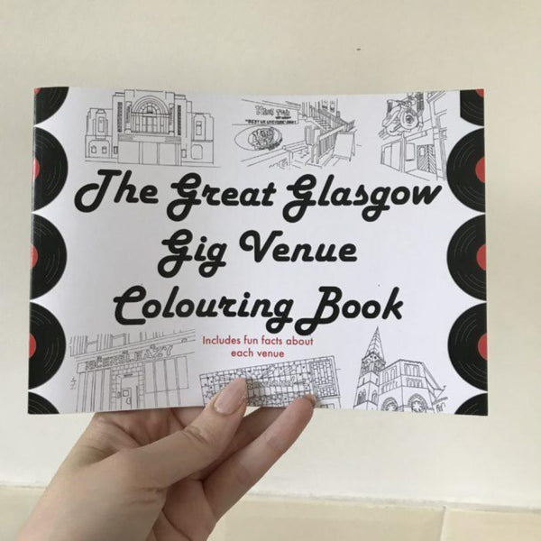 The Great Glasgow Gig Venue Colouring Book by Lola Polooza Braw Wee Emporium
