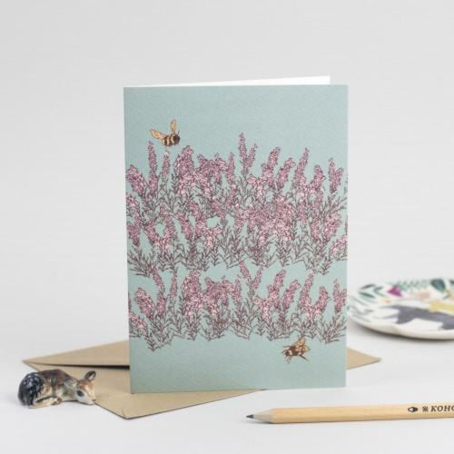 Heather Greeting Card - Scottish Draws Braw Wee Emporium