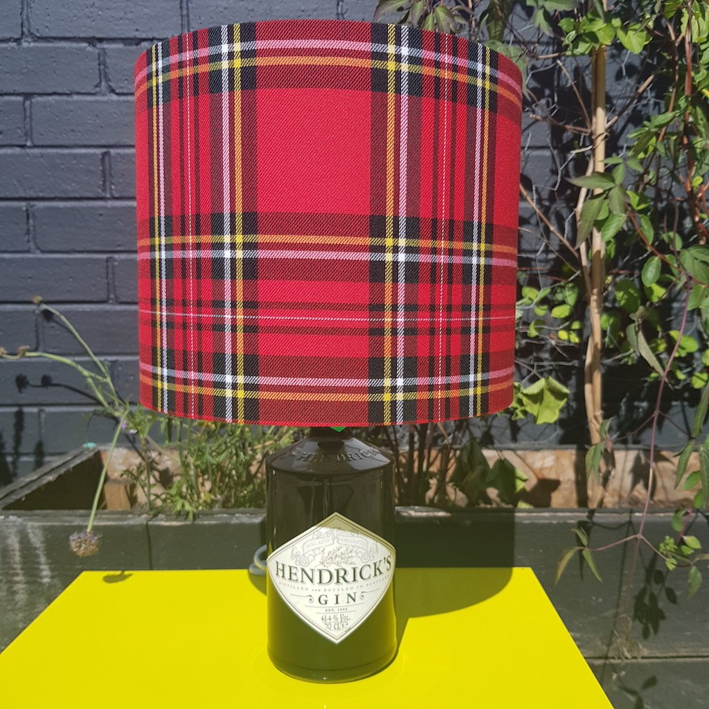 Hendricks Lamp with Red Tartan Shade - Braw Wee Emporium