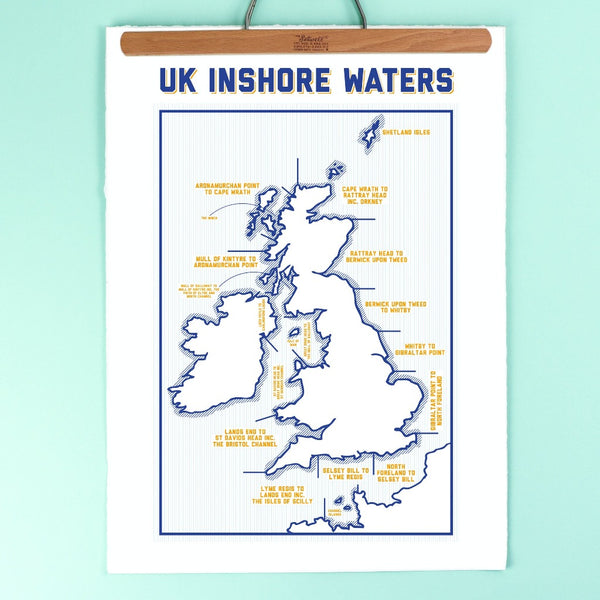 UK Inshore Waters Print - Kate & The Ink - Braw Wee Emporium