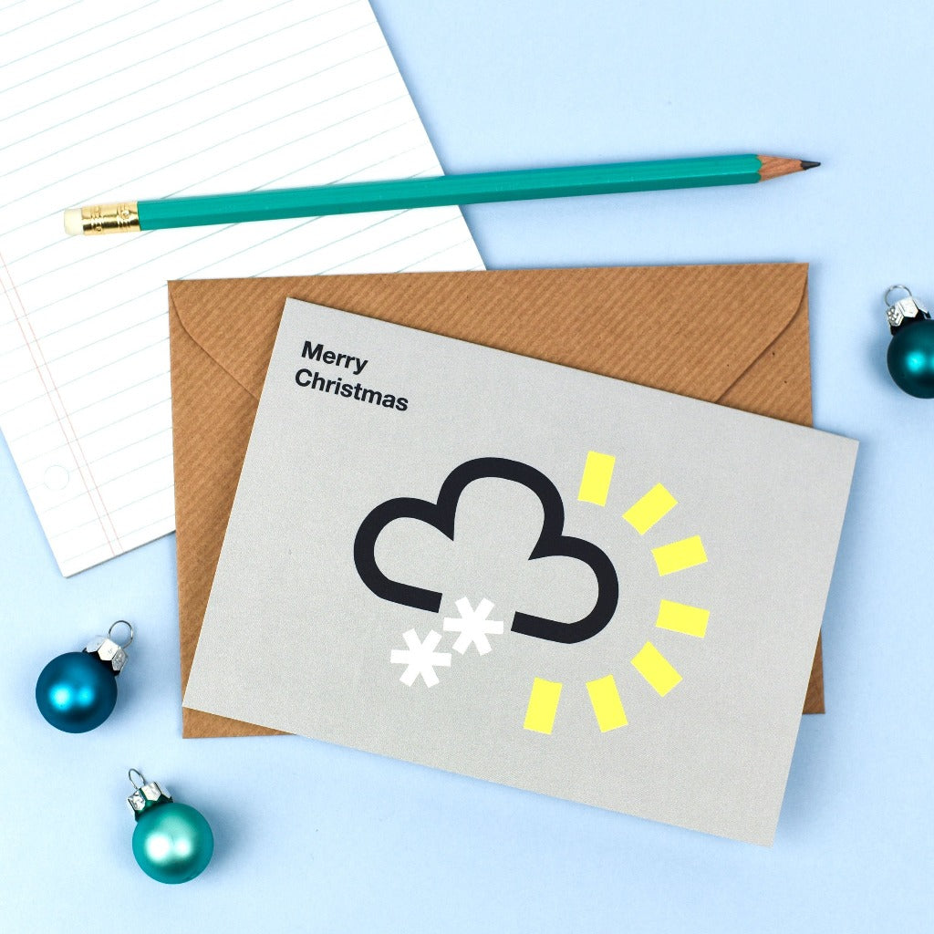Snow Weather Symbol Card - Kate & The Ink Braw Wee Emporium