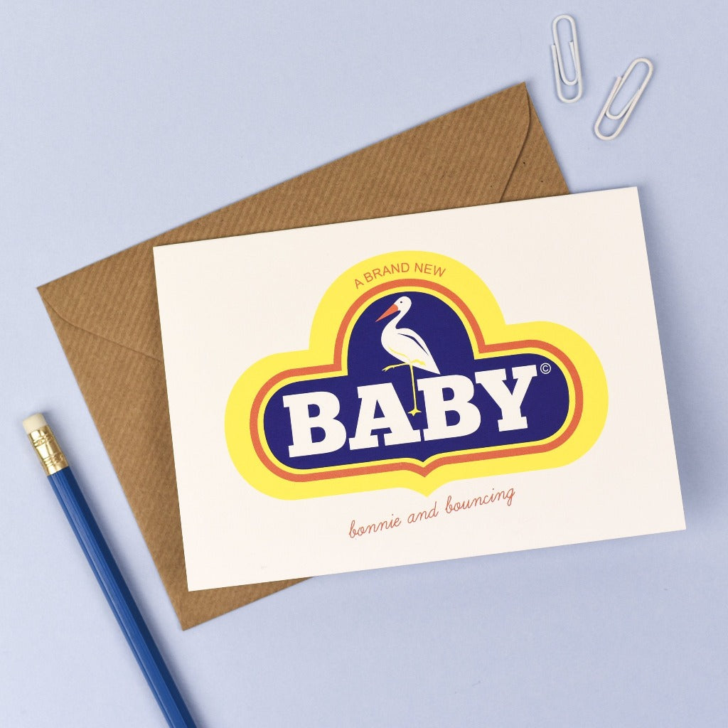 Retro New Baby Card - Kate & The Ink Braw Wee Emporium