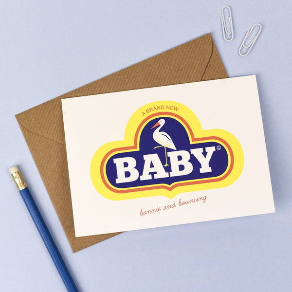 Retro New Baby Card - Kate & The Ink - Braw Wee Emporium