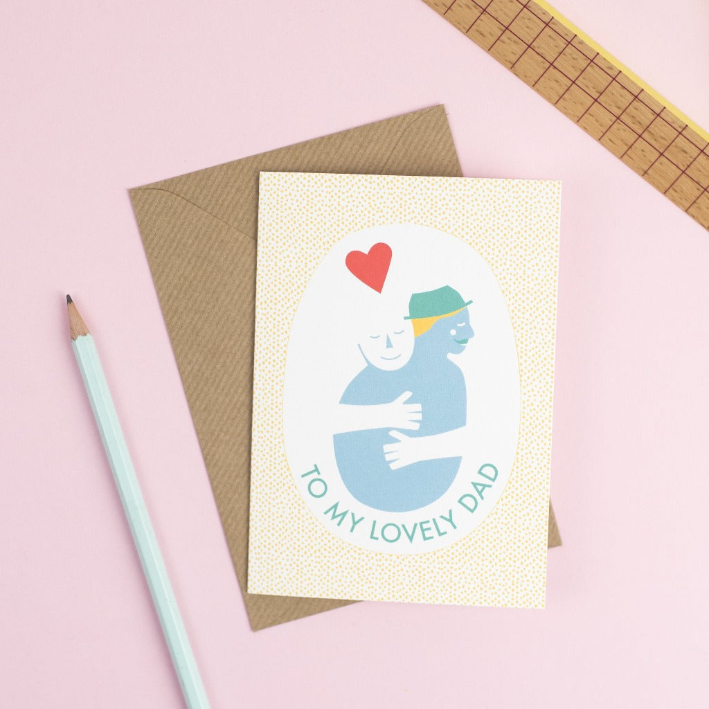 Lovely Dad card - Kate & The Ink - Braw Wee Emporium