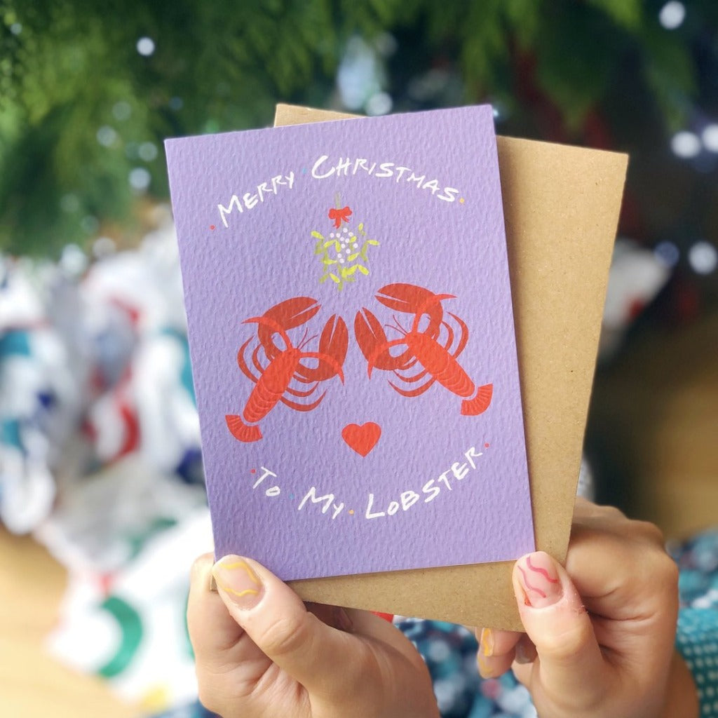 Lobster Friends TV Show Christmas Card - Braw Wee Emporium