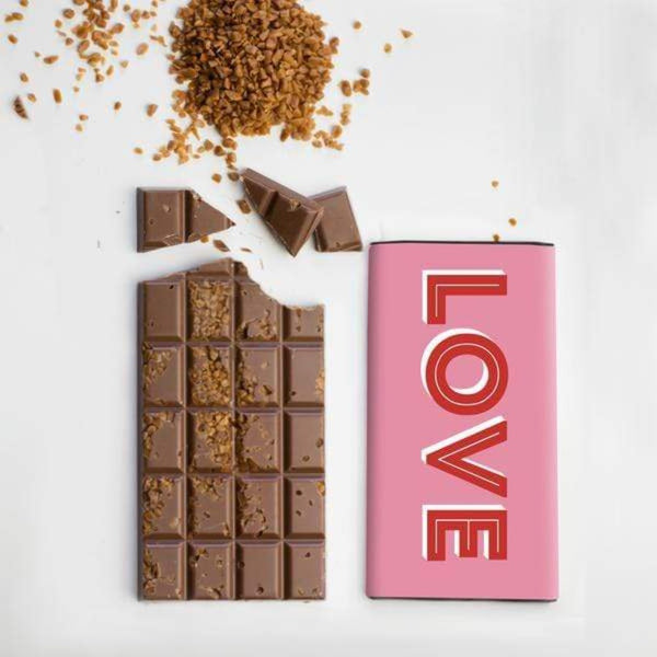 Love Salted Caramel Chocolate Chocolate Bar  - Quirky Chocolate Braw Wee Emporium