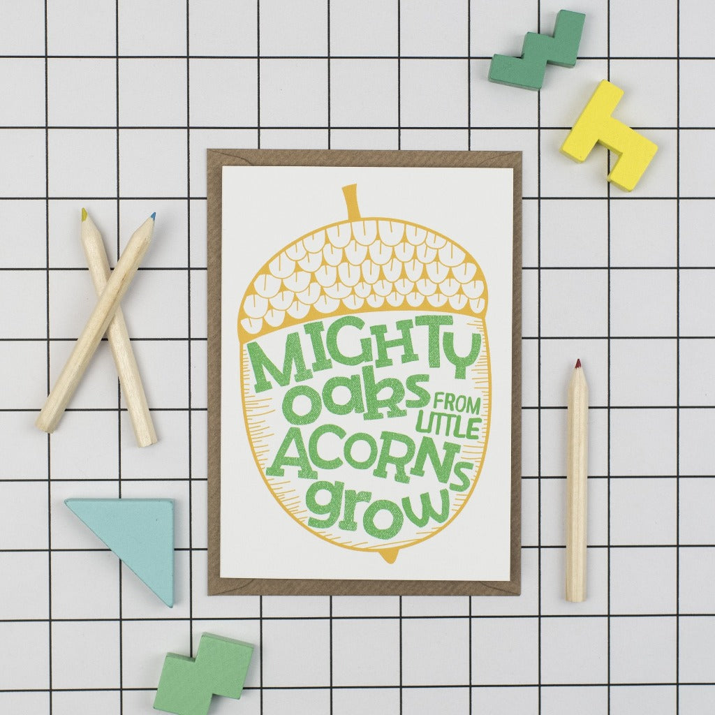 Mighty Oaks Baby Card - Kate & The Ink - Braw Wee Emporium