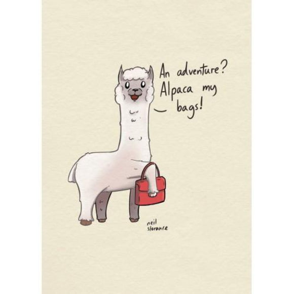 Alpaca Greetings Card - Neil Slorance
