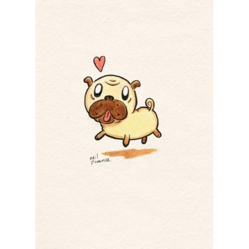 Pug Greetings Card - Neil Slorance - Braw Wee Emporium