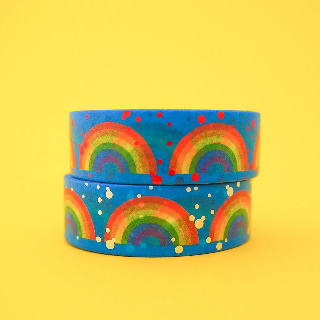 Rainbow Red Foil Washi Tape - Hand Over Your Fairy Cakes Braw Wee Emporium