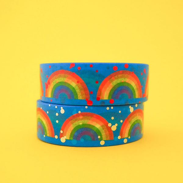 Rainbow Red Foil Washi Tape - Hand Over Your Fairy Cakes - Braw Wee Emporium