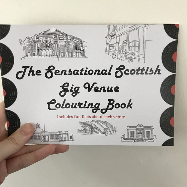 PRE-ORDER The Great Scottish Gig Venue Colouring Book - Lola Polooza - Braw Wee Emporium