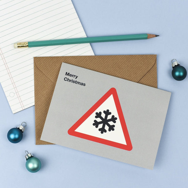 Snow Road Symbol Christmas Card - Kate & The Ink Braw Wee Emporium