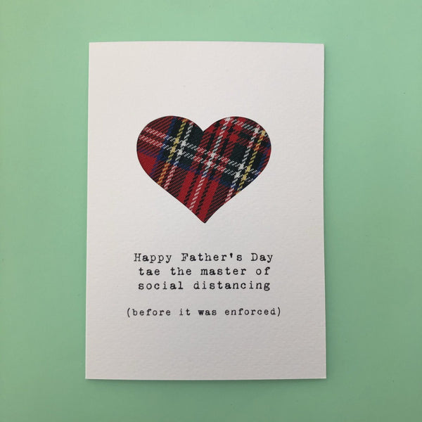 Master of Social Distancing Father's Day Greeting Card - Hiya Pal - Braw Wee Emporium Braw Wee Emporium