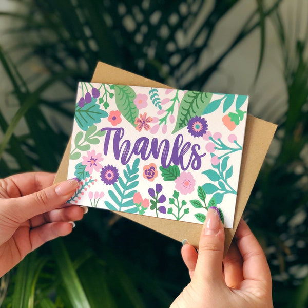 Thanks Floral Card - XOXO Designs by Ruth Braw Wee Emporium