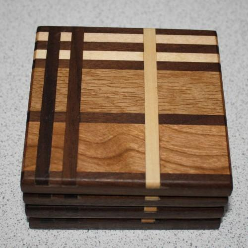 The Glencoe Tartan Wood Coasters by Michael Yuill - Braw Wee Emporium