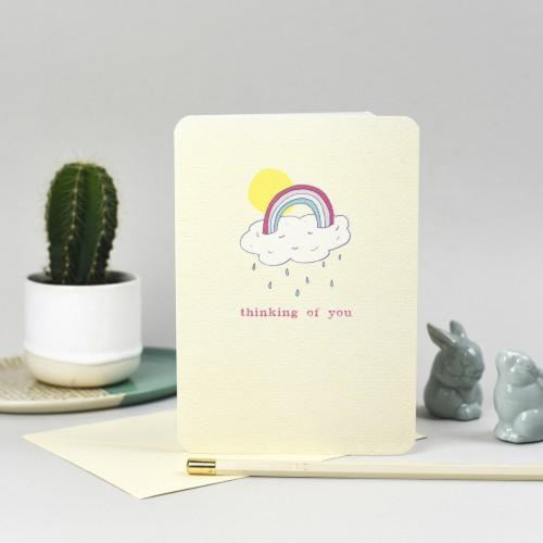 Thinking of You Greeting Card - Softly Spoken Braw Wee Emporium