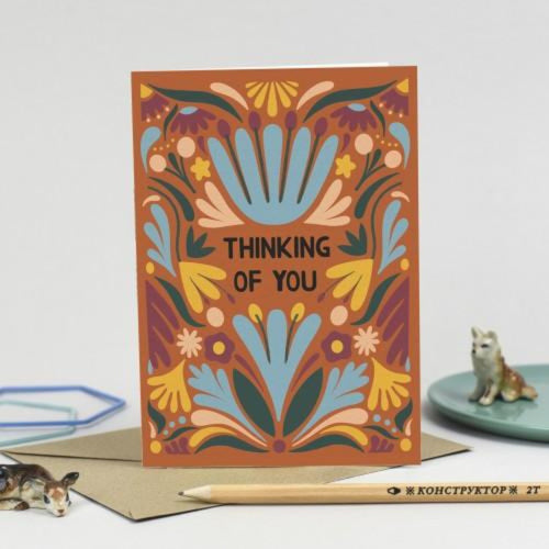 Thinking of You Card - Hazel Dunn Braw Wee Emporium