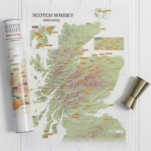 The Scratch Off Scotland Whisky Distilleries Map - Braw Wee Emporium