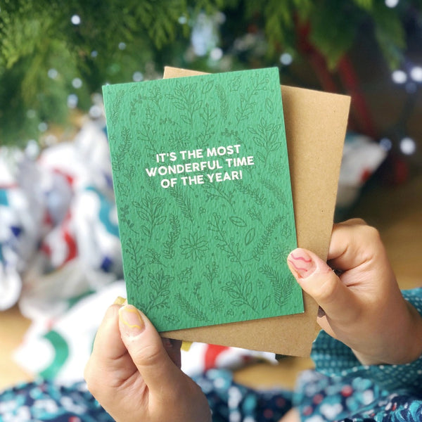 Christmas Card 'It's The Most Wonderful Time Of The Year'  - XOXO Designs by Ruth Braw Wee Emporium