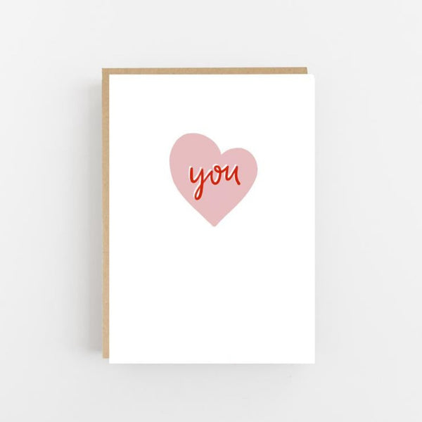 You - Heart Greeting Card - Lomond Paper Co Braw Wee Emporium