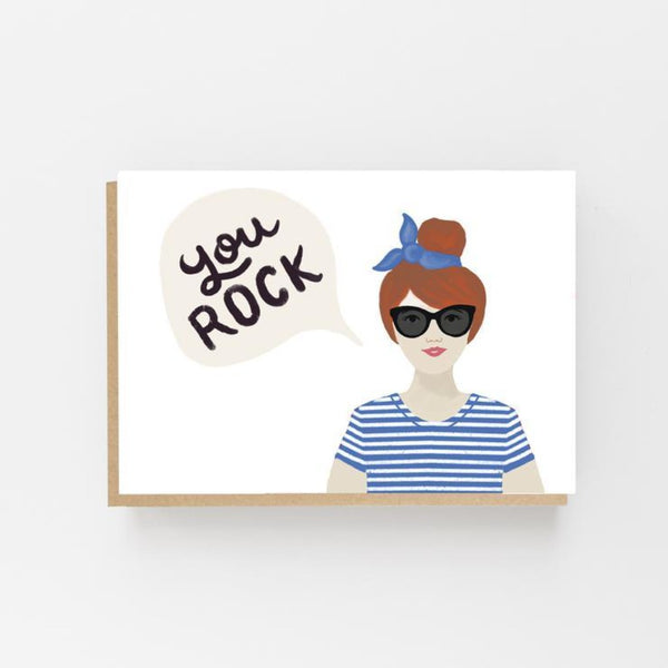 You Rock Greeting Card - Lomond Paper Co Braw Wee Emporium