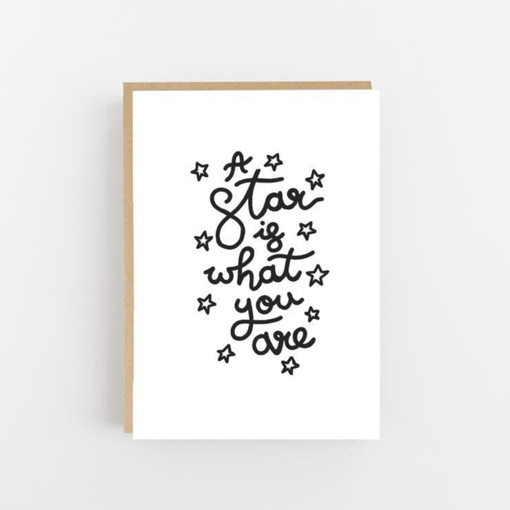 A Star is What You Are Greeting Card - Lomond Paper Co Braw Wee Emporium