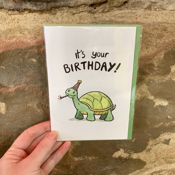 It's Your Birthday Turtle Greeting Card - Neil Slorance - Braw Wee Emporium