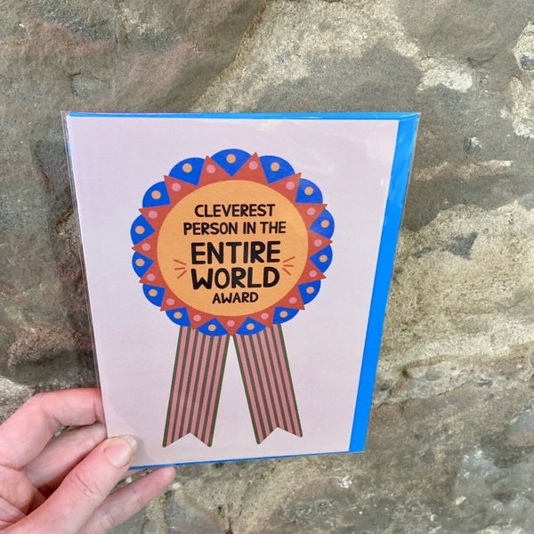 Cleverest Person in the Entire World Greeting Card - Hazel Dunn - Braw Wee Emporium Braw Wee Emporium