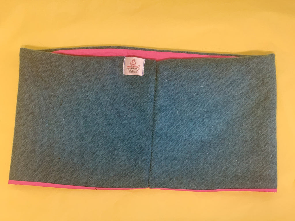 Teal Harris Tweed Neck Warmer Braw Wee Emporium