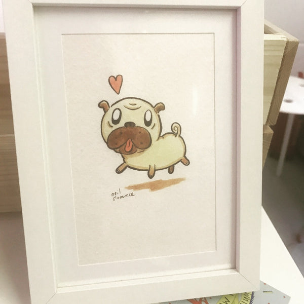 Framed Pug by Neil Slorance - Braw Wee Emporium