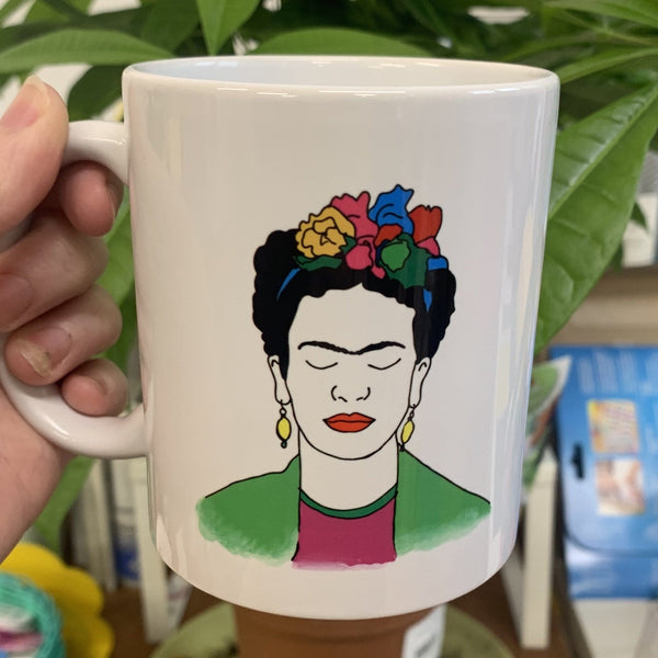 "Frida Kahlo ""Nothing is Absolute.."" Mug - Black & White - Steamboats Design - Braw Wee Emporium"