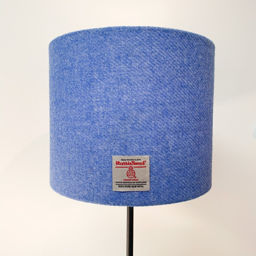 Baby Blue Harris Tweed Lamp Shade - Braw Wee Emporium