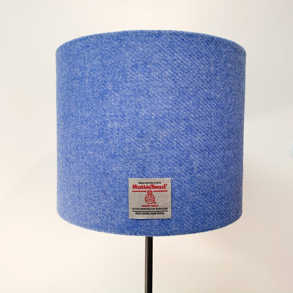 Baby Blue Harris Tweed Lamp Shade Braw Wee Emporium