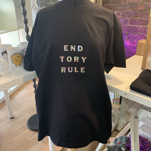 End Tory Rule T-Shirt - Braw Wee Emporium - Braw Wee Emporium
