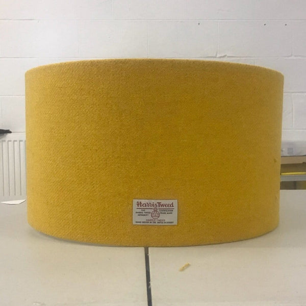 Yellow Harris Tweed Lampshade - Braw Wee Emporium