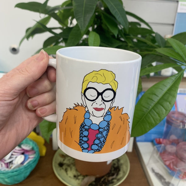 "Iris Apfel ""When You Don't Dress Like Everybody Else.."" Mug - Steamboats Design - Braw Wee Emporium"