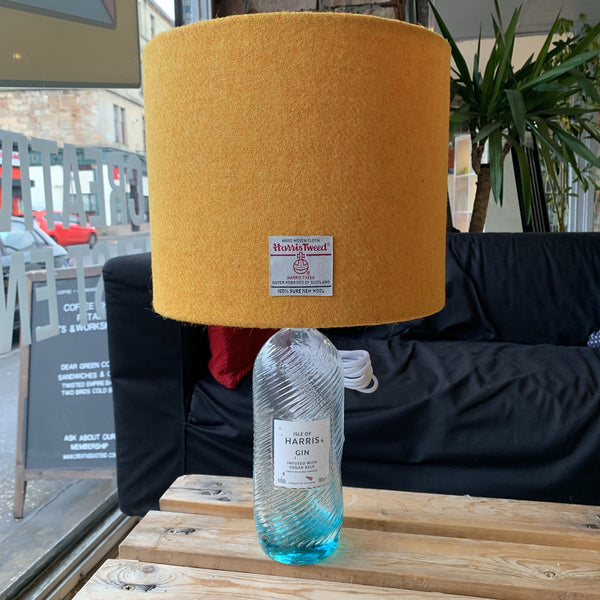 Yellow Harris Gin Lamp with Harris Tweed - Braw Wee Emporium