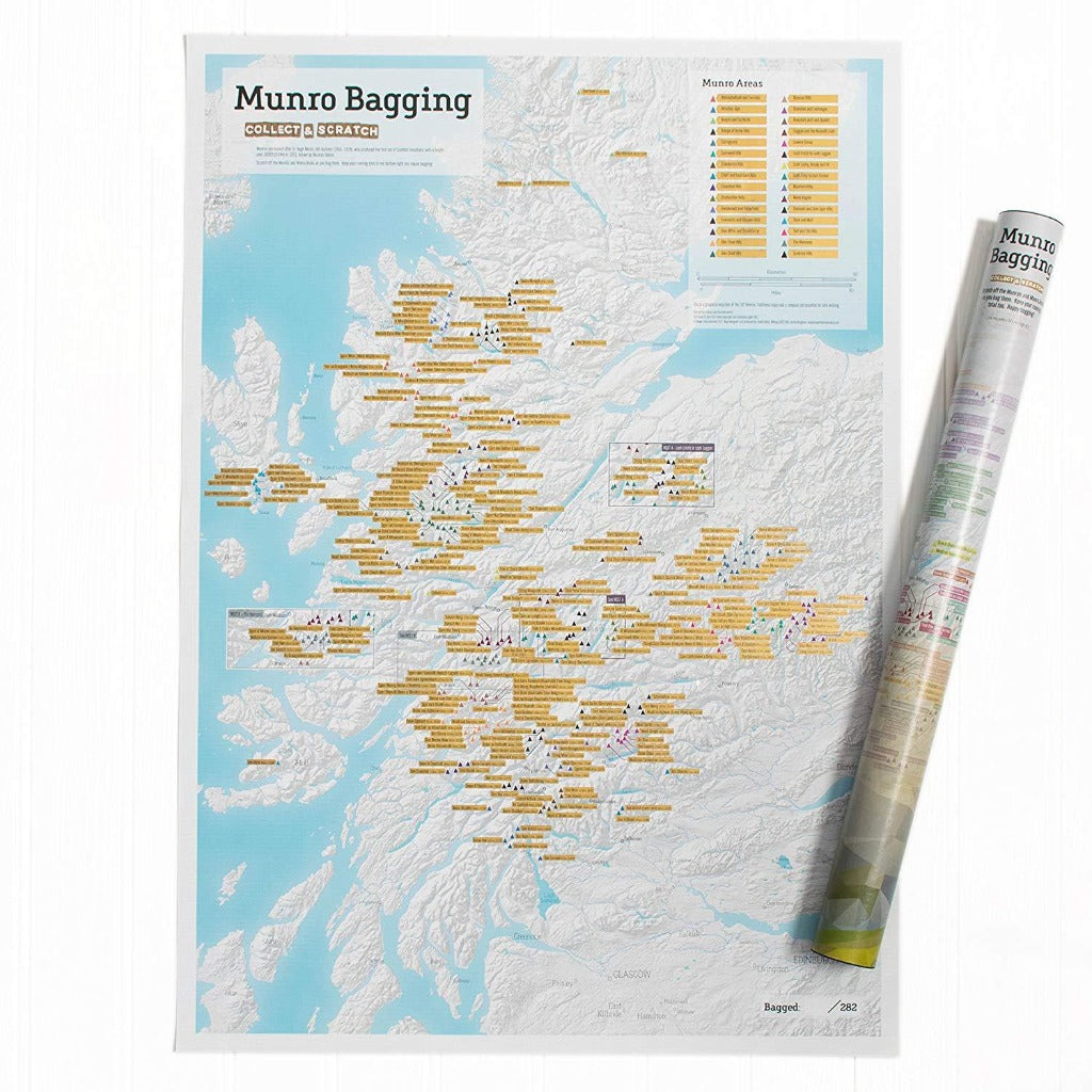 Munro Bagging - Collect and Scratch Map - Braw Wee Emporium - Braw Wee Emporium