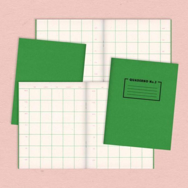 Quaderno No. 2 (Week Planner) notebook - Risotto Studio Braw Wee Emporium