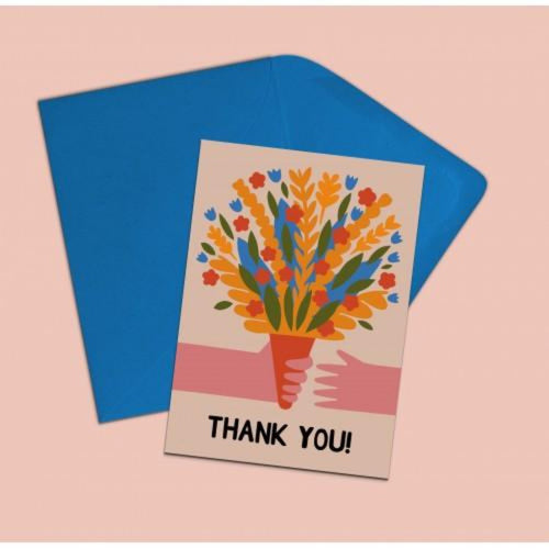 'Thank You' card - Hazel Dunn Braw Wee Emporium