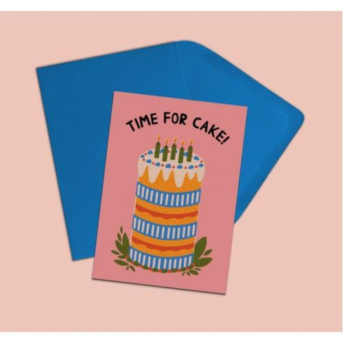 Time for Cake Card - Hazel Dunn Braw Wee Emporium