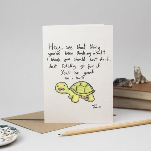 "Turtle ""You'll be great"" Card - Neil Slorance - Braw Wee Emporium"
