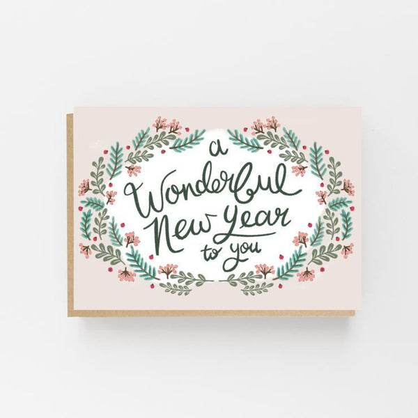 A Wonderful New Year To You Card- Lomond Paper Co Braw Wee Emporium