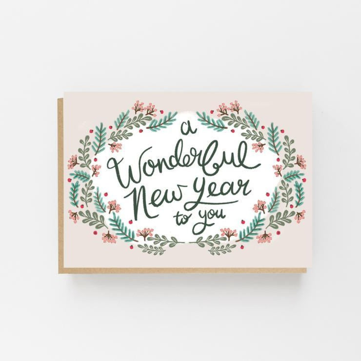 A Wonderful New Year To You Card- Lomond Paper Co - Braw Wee Emporium