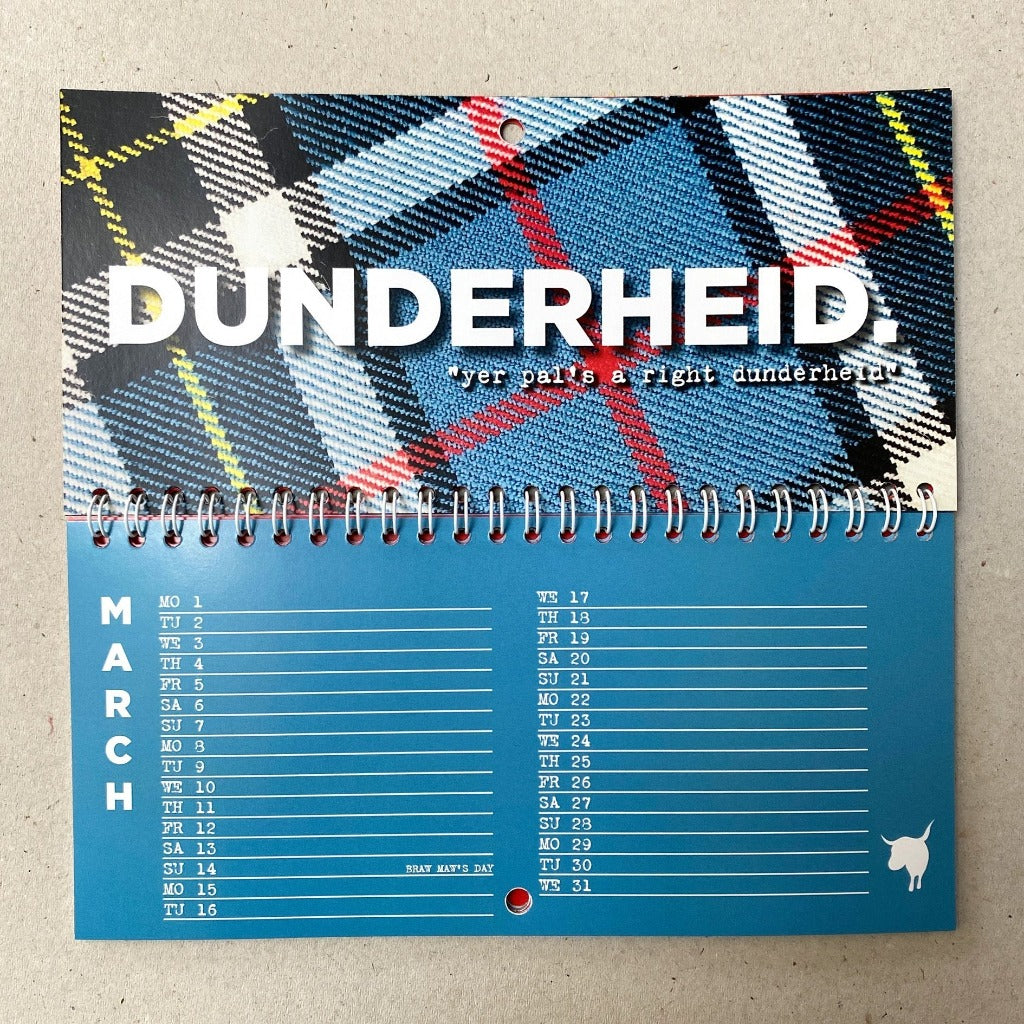 Pre-Order - Hiya Pal Scottish Insults Calendar 2021- Hiya Pal Braw Wee Emporium