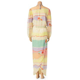 Vintage Anne Crimmins for Umi Collection Silk Dress