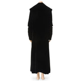 Vintage Black Velvet Full-Length Coat